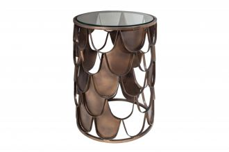 Odkládací stolek ABSTRACT 40 CM antik mosaz