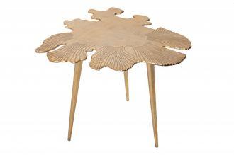 Konferenční stolek LEAF 57 CM antik zlatý