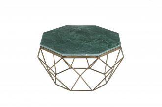 Konferenční stolek DIAMOND NOBLES 69 CM zelený mramor