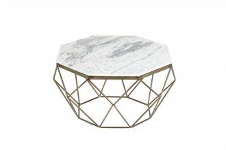 Konferenční stolek DIAMOND NOBLES 69 CM bílý mramor