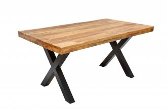 Jídelní stůl IRON CRAFT X NATUR 160 CM masiv mango