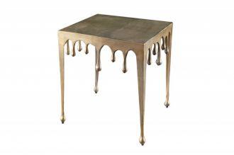 Designový odkládací stolek LIQUID LINE L 50 CM zlatý