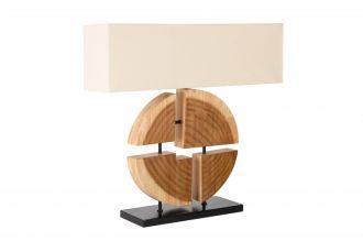 Stolní lampa ORGANIC ARTWORK 80 CM béžová masiv gumovník