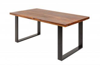 Jídelní stůl IRON CRAFT II 140 CM hnědý masiv sheesham
