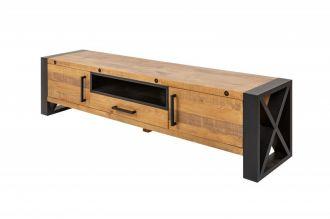 Televizní stolek THOR NATUR 200 CM masiv borovice