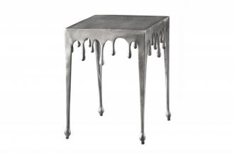 Designový odkládací stolek LIQUID LINE S 44 CM stříbrný