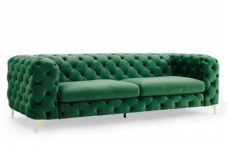 Pohovka MODERN BAROCCO 240 CM smaragdově zelená samet