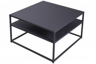 Konferenční stolek DURA STEEL 70 CM černý kov