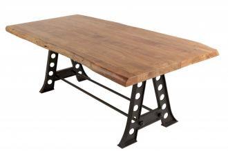 Jídelní stůl MAMMUT INDUSTRIAL HONEY 220 CM masiv akácie
