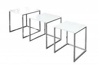 3SET konferenční-odkládací stolek NEW ELEMENTS bílý