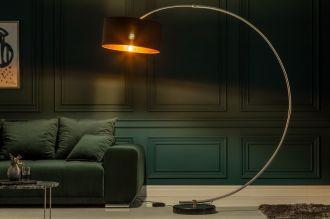 Stojací lampa PYTHON 190 CM černo-zlatá