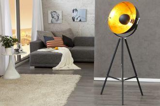 Stojací lampa BIG STUDIO 160 CM černo-zlatá