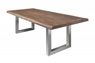 Jídelní stůl MAMMUT ART 220 CM hnědý masiv akácie