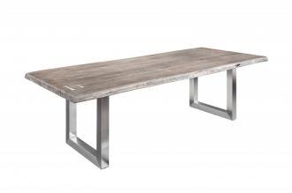 Jídelní stůl MAMMUT ART 220 CM šedý masiv akácie