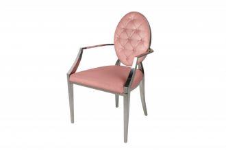 Židle MODERN BAROCCO tmavě růžová s područkami