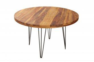 Kulatý jídelní stůl MAKASSAR 120 CM masiv sheesham