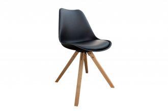 Jídelní židle SCANDINAVIA černá / přírodní