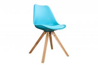Jídelní židle SCANDINAVIA tyrkysová / přírodní