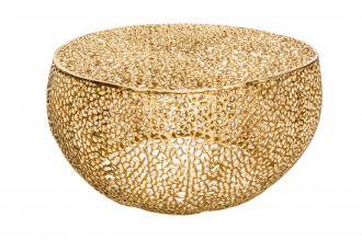 Konferenční stolek LEAF 80 CM GOLD