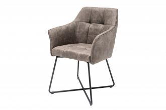 Jídelní židle LOFT taupe mikrovlákno