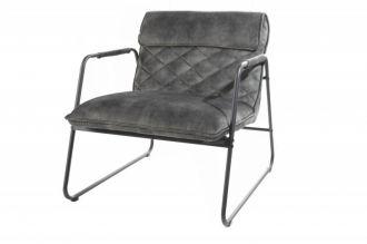 Židlo-křeslo MUSTANG šedozelené samet