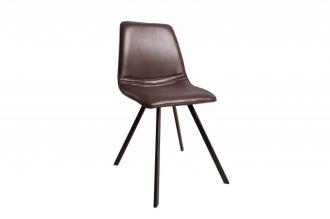 Židle AMSTERDAM hnědá syntetická kůže