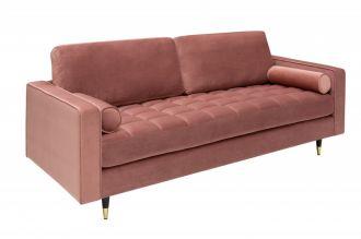 Luxusní pohovka COZY VELVET 225 CM tmavě růžová samet