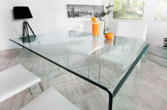 Skleněný stůl GHOST 120 CM