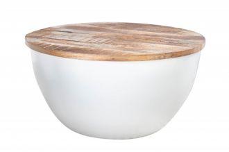 Konferenční stolek INDUSTRIAL STORAGE II 70 CM masiv mango
