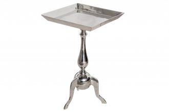 Odkládací stolek JARDIN SQUARE 55 CM stříbrný