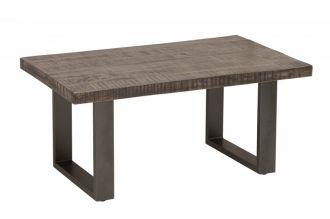 Konferenční stolek IRON CRAFT 100 CM GREY masiv mango