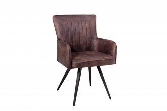 Židle ROADSTER antik hnědá mikrovlákno