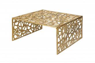 Konferenční stolek ABSTRACT 60 CM zlatý
