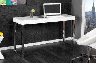 Psací/konzolový stůl DESK WHITE 120 CM, II. jakost