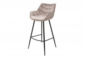 Barová židle DUTCH COMFORT šampaňská samet