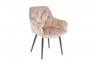 Židle MALANO šampaňská samet