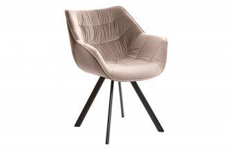 Židlo-křeslo DUTCH COMFORT šedo-béžová samet
