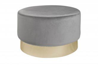 Taburet velký MODERN BAROCCO II 55 CM stříbrný samet