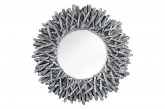 Designové zrcadlo RIVERSIDE GREY naplavené dříví