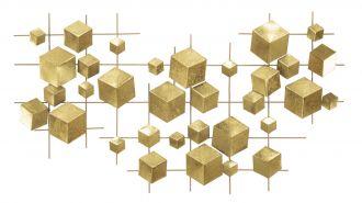 Nástěnná dekorace GOLD DICE 90 CM