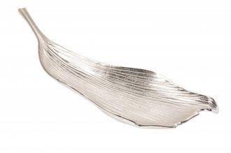Mísa LEAF 64 CM stříbrná