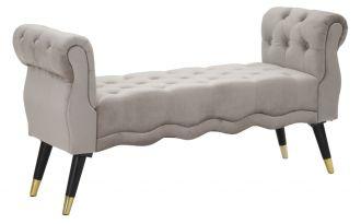 Pokojová lavice LARIS 120 CM šedá