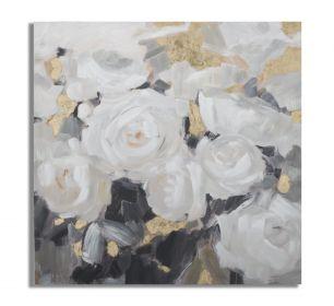 Plátěný obraz WHITE ROSES II 90 CM
