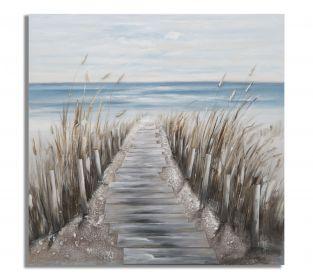Plátěný obraz BEACH ROAD 100 CM
