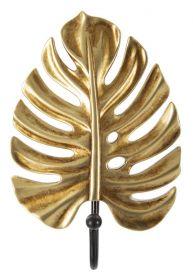 Věšák na klíče GOLDEN LEAF 16 CM
