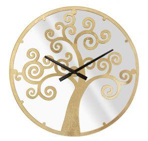 Nástěnné hodiny se zrcadlem GOLDEN TREE 55 CM