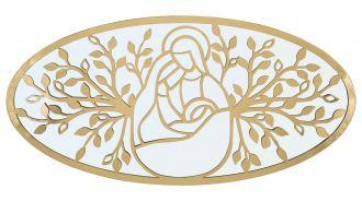Nástěnný panel / Zrcadlo BIRTH GOLD 120 CM