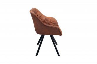 Židlo-křeslo DUTCH COMFORT antik hnědé mikrovlákno