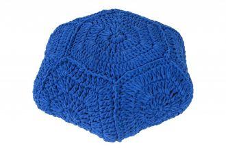 pletený puff COSY BLUE