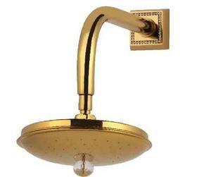 luxusní sprchová koncovka MIMOZA GOLD s potahem 24 kt zlata, černé krystaly